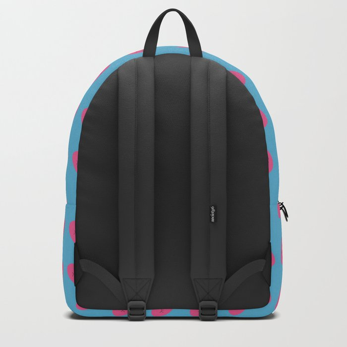 valentines heart blue Backpack