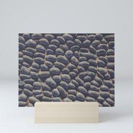 Black Pebble Mini Art Print