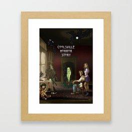 Coolsville Horror Story Framed Art Print