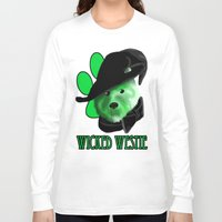 westie Long Sleeve T-shirts featuring Wicked Westie of the West by Kristen Hodge