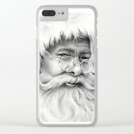 father christmas Clear iPhone Case