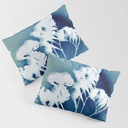 Blue Strawflower Pillow Sham