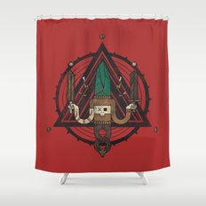 He, with the peculiar voice Shower Curtain