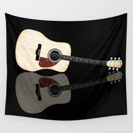 Pale Acoustic Guitar Reflection Wall Tapestry