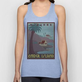 Ember Island Travel Poster Unisex Tank Top