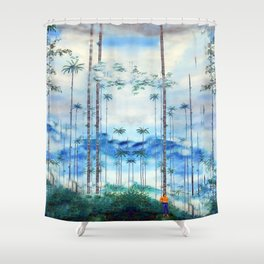Kidnapped .....Alone in this stunning capsulle Shower Curtain