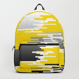 Yellow White Black Halftone Backpack
