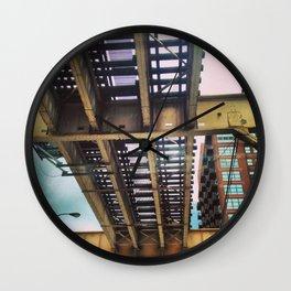 Under the Tracks Wall Clock