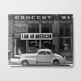 I Am An American, 1942. Vintage Photo Metal Print