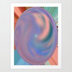 Mottled Marble Art Print