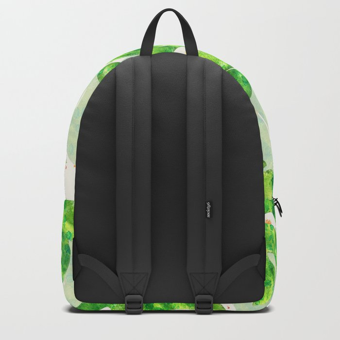 Tropical Monstera Leaves Unique Pattern Backpack