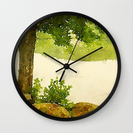 Camp Fairhaven, Maine Wall Clock