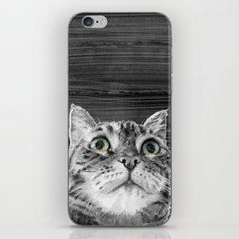 Big Eyed Cat B&W iPhone Skin