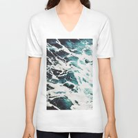 waves V-neck T-shirts featuring Waves by Jenna Davis Designs