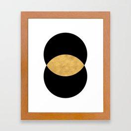 VESICA PISCES CIRCLE ABSTRACT GEOMETRIC SYMBOL Framed Art Print