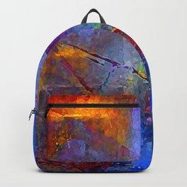 Intensity of Blue Digital Painting Backpack
