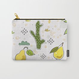 Seamless Pattern With Hand Drawn Cacti and Fruits(pear) Carry-All Pouch