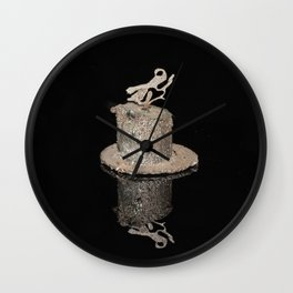 """Reflections"" - Metal Sculpture - Bug Wall Clock"