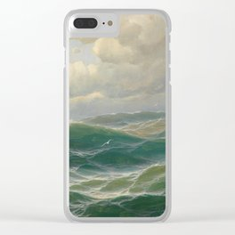 Vintage Ocean Oil Painting by Max Jensen Clear iPhone Case