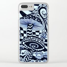 Mushroom Wonderland Clear iPhone Case