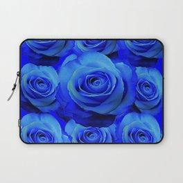 AWESOME BLUE ROSE GARDEN  PATTERN ART DESIGN Laptop Sleeve