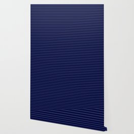 Contemporary Navy Blue Stripe Pattern Design Wallpaper