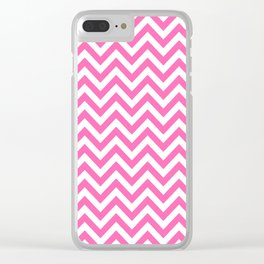 Creamy Pink and White Chevron Clear iPhone Case