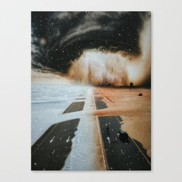 Extreme weather in Dubai by GEN Z Canvas Print