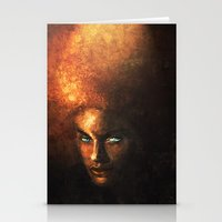 afro Stationery Cards featuring AFRO by John Aslarona