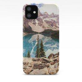 Moraine Lake III Banff Summer Mountain Reflection iPhone Case