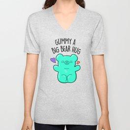 Gummy A Big Bear Hug Cute Gummy Bear Candy Pun Unisex V-Neck