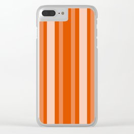 Persimmon Victorian Lady Stripe Clear iPhone Case