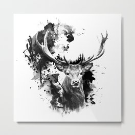 Once upon a Stag Metal Print