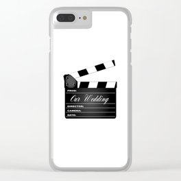 Our Wedding Clapperboard Clear iPhone Case