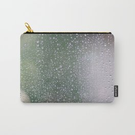 Drops of rain on window with abstract lights. Carry-All Pouch