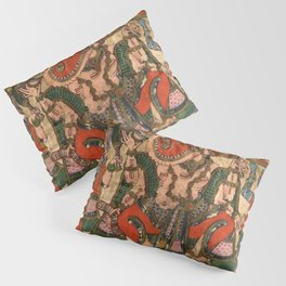 Hindu Krishna Ganesh Tapestry Pillow Sham