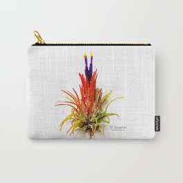 Tillandsia IO Ionantha Air Plant Watercolors Carry-All Pouch