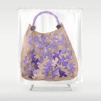 tote bag Shower Curtains featuring Tote 1 by ©valourine