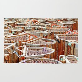 Traditional Lobster Traps Rug