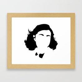Faceless Anne Frank Framed Art Print
