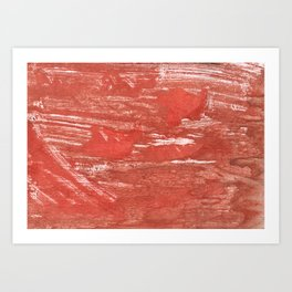 Indian red colorful wash drawing Art Print