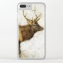 Grand Canyon Elk No. 1 Wintered Clear iPhone Case