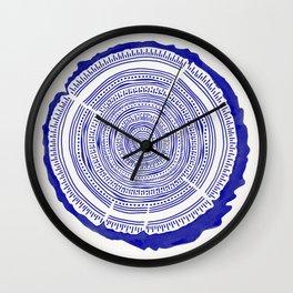 Douglas Fir – Navy Wall Clock