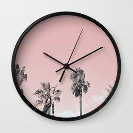 PINK PALMS Wall Clock