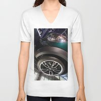 bmw V-neck T-shirts featuring BMW Mini Paceman Wheel by Mauricio Santana