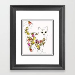 Blossom Cat Framed Art Print
