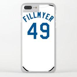 Heath Fillmyer Jersey Clear iPhone Case