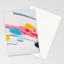 Even After All  #3 - Abstract on perspex by Jen Sievers Stationery Cards