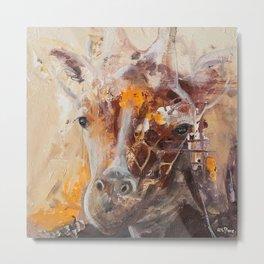 "Giraffe - Animal - ""Presence"" by LiliFlore Metal Print"