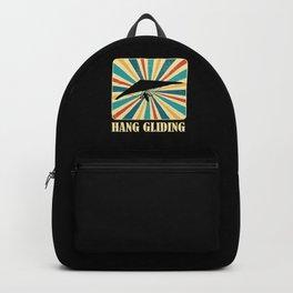 Hang Gliding Retro Vintage Hang Glider Extreme Sports Gift Backpack